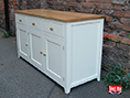 Painted Oak Shaker Sideboard with Panel Side Detail