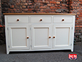 Painted Shaker Sideboard with Solid Oak Top