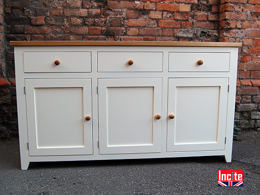 Painted and Oak Shaker Sideboard