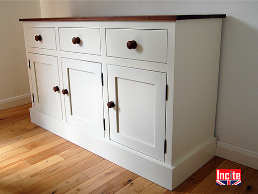 Handmade Painted and Pine Shaker Sideboard