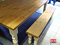 Solid Farmhouse Table with Turned Legs