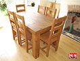 Plank Pine Dining Table 75mm Solid Chunky Top