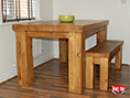 Solid Rustic Pine Dining Table