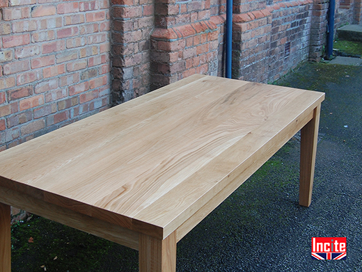 Solid Oak Table with Tapered Legs