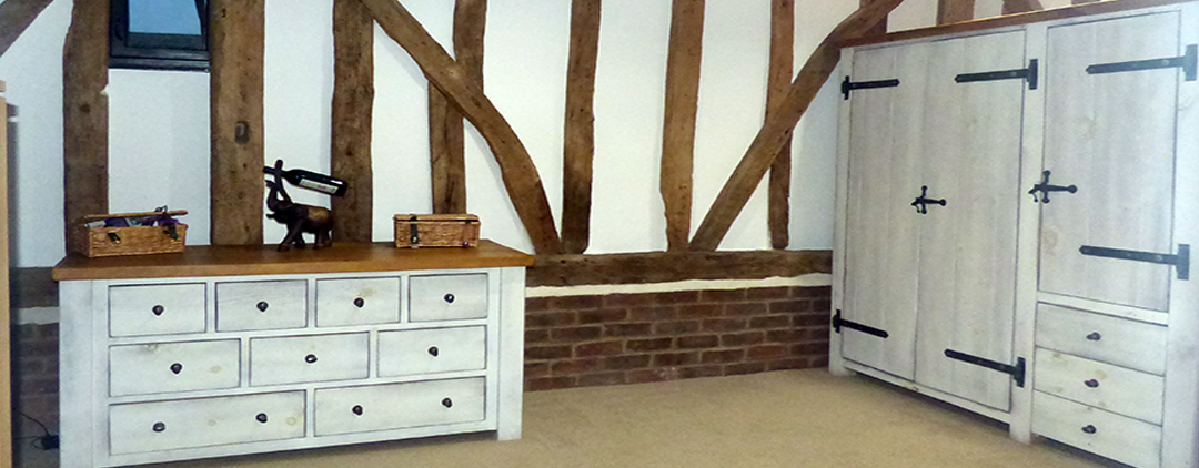 Painted rustic bedroom furniture handmade to order by Incite interiors at competitive prices