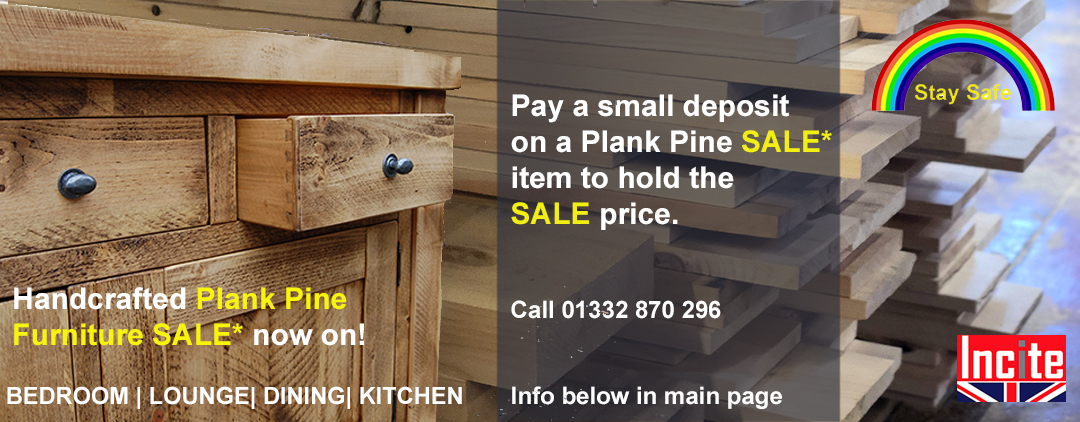 Plank Pine Furniture Sale, pay a deposit to hold the sale price, Bedroom lounge kitchen dining
