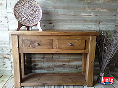 Beautifully Handmade British Bespoke Rustic Wooden Hall Furniture which is Hand Made To Your Own Size Requirements by Incite Interiors Derbyshire
