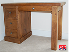 British Bespoke Tailor Made Plank Pine Desks Solid Wooden Office Furniture Made to Order  to your requirements Incite Interiors Draycott Derbyshire