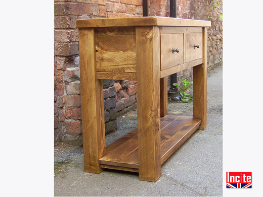 Solid Plank Pine Console Table
