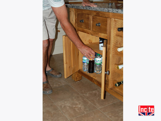 Rustic Pine Kitchen Island with Granite top