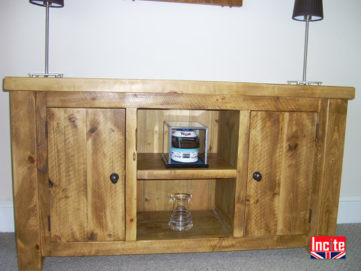 Solid Pine Low Rustic Sideboard
