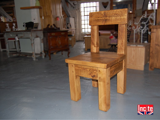 Rustic Pine Pew Chair