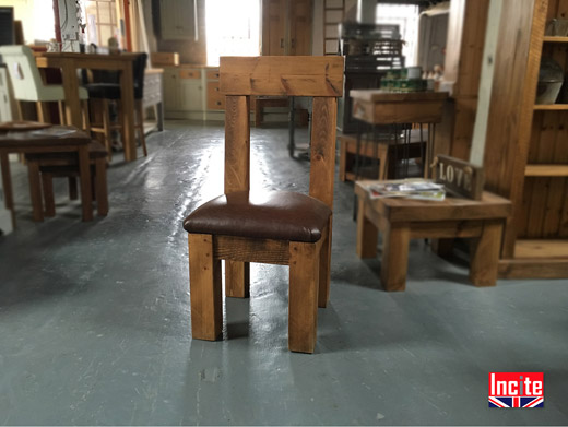 Plank Pew Dining Chair Handmade By Incite Interiors Derby