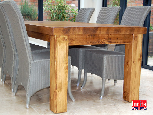 Good Merchants Table,Handmade British Rustic Plank Pine Dining Table By Incite  Interiors Derbyshire, Chunky