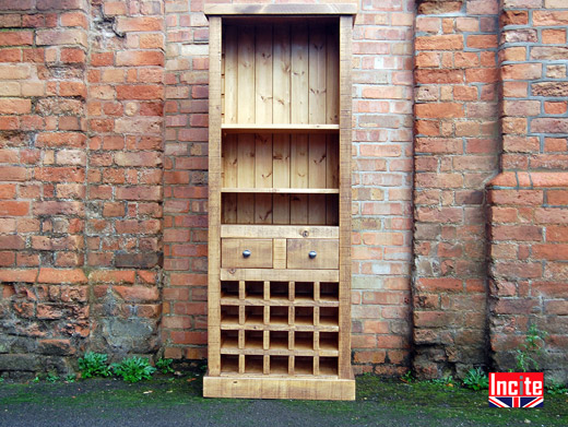 Plank Wood Wine Rack