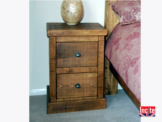 Plank Pine Solid Wooden Bedside Table