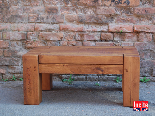 Plank Pine Beam Coffee Table