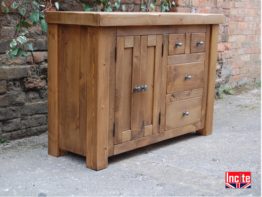 Plank Pine Combination Chest