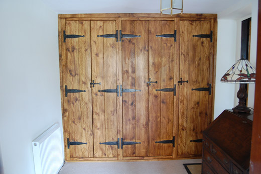 Rustic Solid Pine Fitted Wardrobe