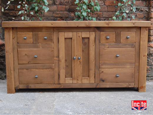 Handcrafted Plank Pine Television Cupboard By Incite Derby