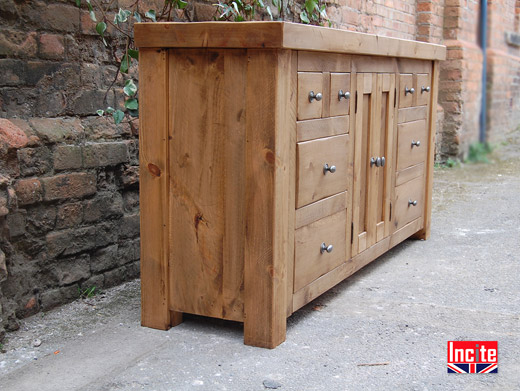 Rustic Pine Living Room Sideboard