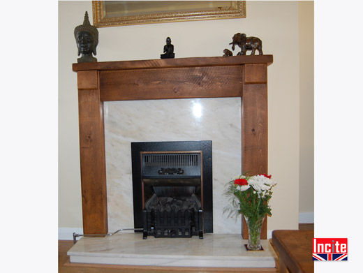 Rustic Plank Pine Fire Surround
