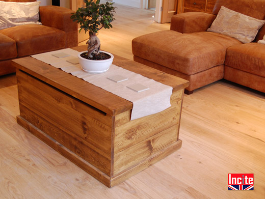 Solid Wooden Pine Tequila Chest Coffee Table