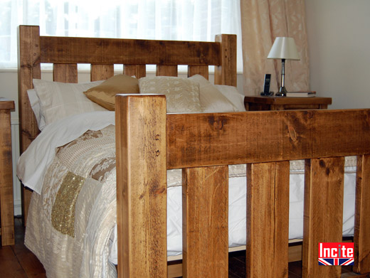 Solid Pinewood Wooden Slat Bed