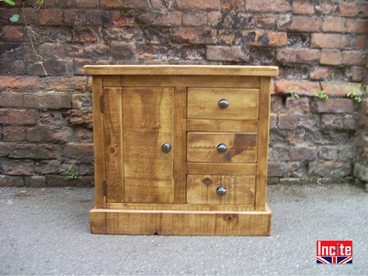 Plank Combination Bedside Cabinet