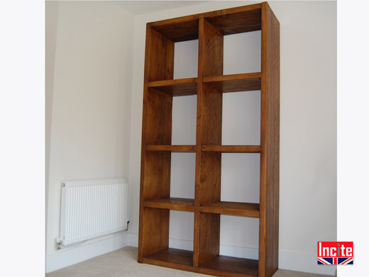 Plank Pine Double Cube Unit British Handmade