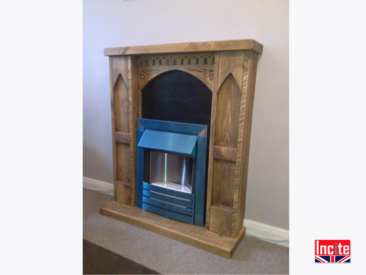 Gothic Style Wooden Fire Surround