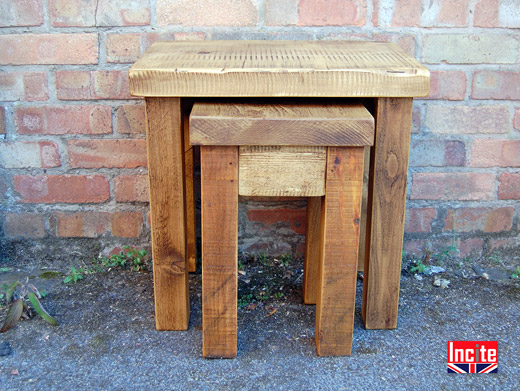 Plank Pine Nest of 2 Tables
