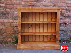 Handmade Plank Pine Bookcase By Incite Interiors Derbyshire, makers of custom made solid wooden furniture for your home