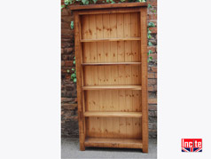Custom Solid Plank Pine 4 Shelved Bookcase made to your size