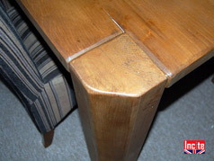Solid Pine Junk Leg Table