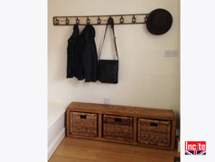Handmade Hall Unit with Basket storage