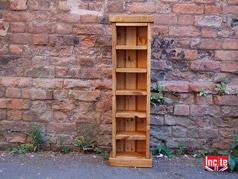 Plank Pine Slim Compact Disc Storage Tower & Bespoke Handmade Rustic Chunky Plank Pine DVD u0026 CD Units