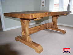 Plank Contemporary Refectory Table