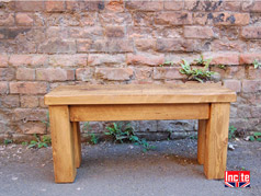 Solid Plank Pine Bench