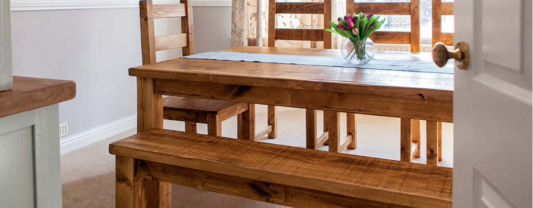 Rustic Plank Dining Furniture handmade to your requirements