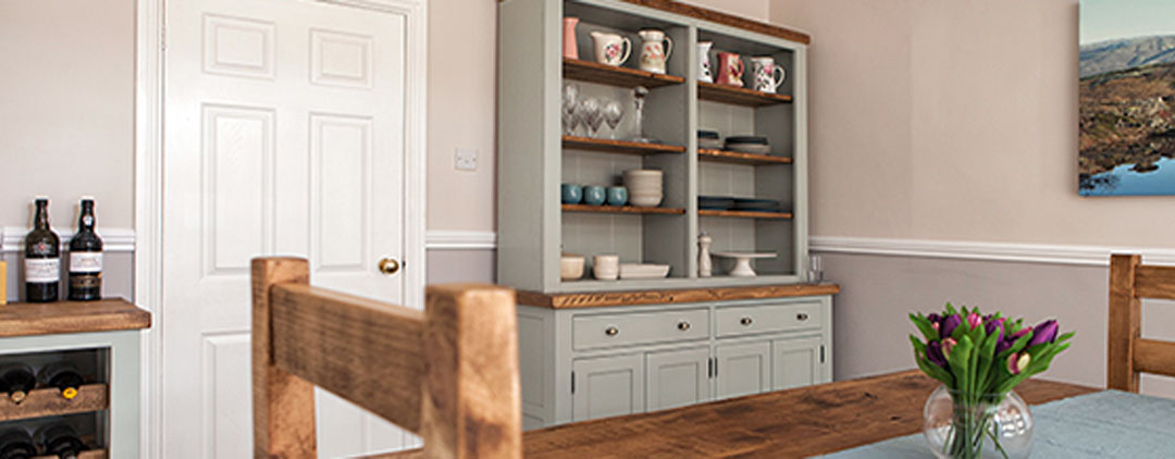 Painted Farrow & Ball colours Wooden furniture handmade to order to your requirements by incite Interiors in Derbyshire